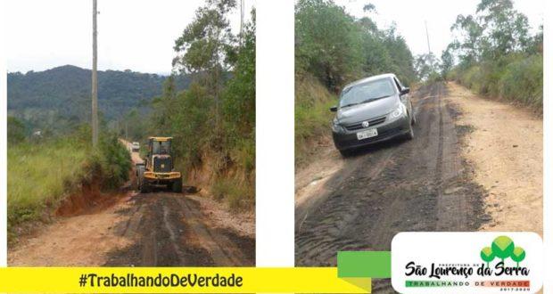 Fazenda Vitória recebendo manutenção nas vias