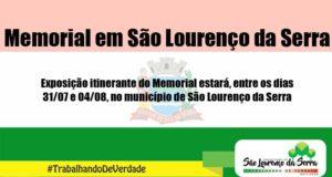Memorial em São Lourenço da Serra