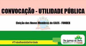 Eleição dos Novos Membros do CACS - FUNDEB
