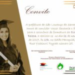 Convite - Formatura da Escola de Beleza