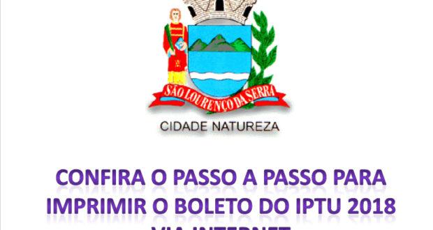 IPTU 2018 disponível no website da Prefeitura
