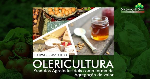 CURSO GRATUITO! Olericultura - Produtos agroindustriais como forma de agregação de valor