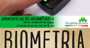Cadastramento de Biometria no CRAS à partir do dia 10/06