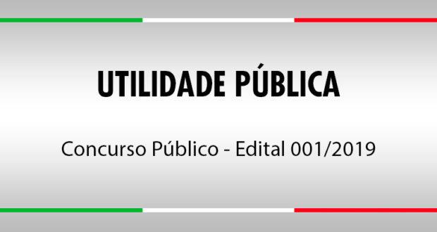 Concurso Público – Edital nº 01/2019