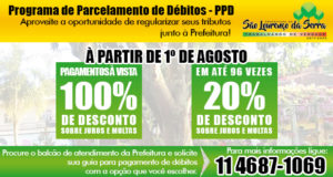 Programa de Parcelamento de Débitos - PPD