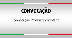 Convocação Professor de Infantil