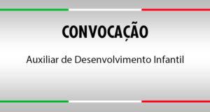 Convocação Auxiliar de Desenvolvimento Infantil